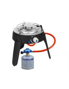 Atemreglersatz / Cadac-Schlauch und Gasflasche B500