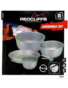 Bateria de cozinha de alumínio de 5 peças Redcliffs