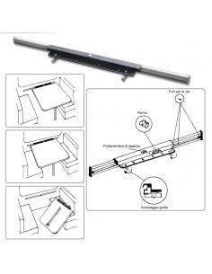Guide de support en aluminium pour table Gestek