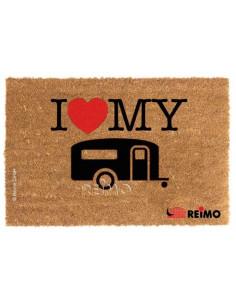 Teppich Ich liebe meinen Wohnwagen 50 x 25 cm