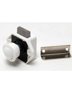Cerradura mini Push Lock blanca Reimo