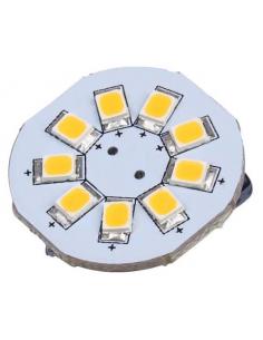 Lâmpada LED G4 9 leds Warm Light Carbest