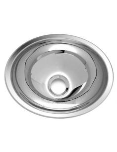 Lavabo rond en inox 26 cm intérieur
