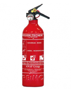 Extintor de ABC 1 kg com manômetro e suporte
