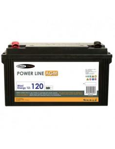 Bateria Auxiliar Power Line AGM 120A Inovtech
