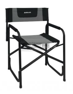 Cadeira executiva dobrável de alumínio preto Midland