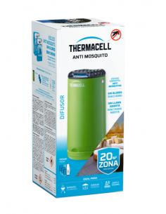 Grüner Thermacell-Diffusor gegen Mücken im Freien