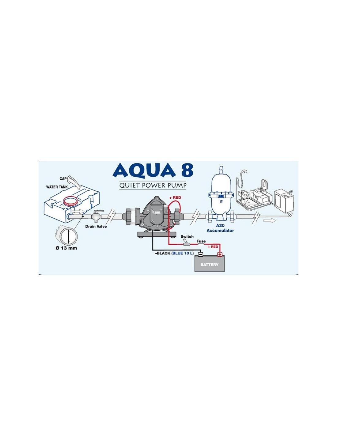 Bomba de agua 7l con presostato aqua 8 a 12 voltios for Presostato bomba agua