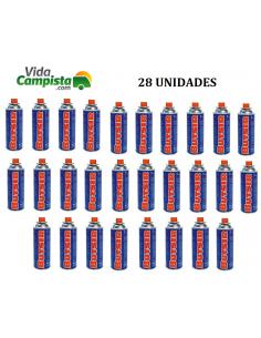 Pack 28 cartuchos B-250 de gás butano Butsir