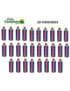 Pack 28 cartuchos B-250 de gas butano Butsir