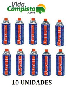 Packen Sie 10 Patronen B-250 Butangas Butsir