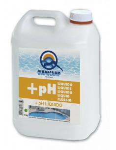 Elevador +pH liquido 6 litros Quimicamp para mantenimiento de piscinas