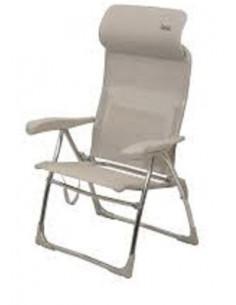 Cadeira de praia com apoio de cabeça dobrável cor de areia Crespo