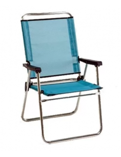 Cadeira dobrável com encosto alto