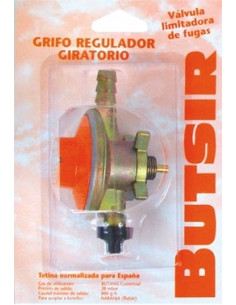 Regulador de gas botella naranja Butsir