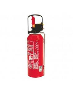 Extintor de pó de 1 kg com suporte de plástico