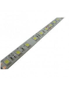 Bande LED blanche 5m avec silicone (puce SMD5050)
