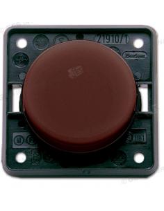 Botão de pressão / interruptor marrom