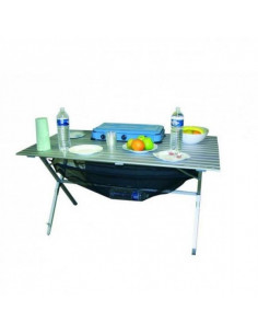 Mesa aluminio plegable 6 personas tienda de camping online for Mesa de camping plegable de aluminio