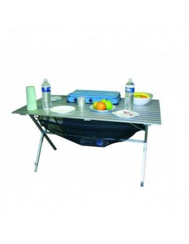 Mesa aluminio plegable 6 personas tienda de camping online for Mesa plegable 8 personas