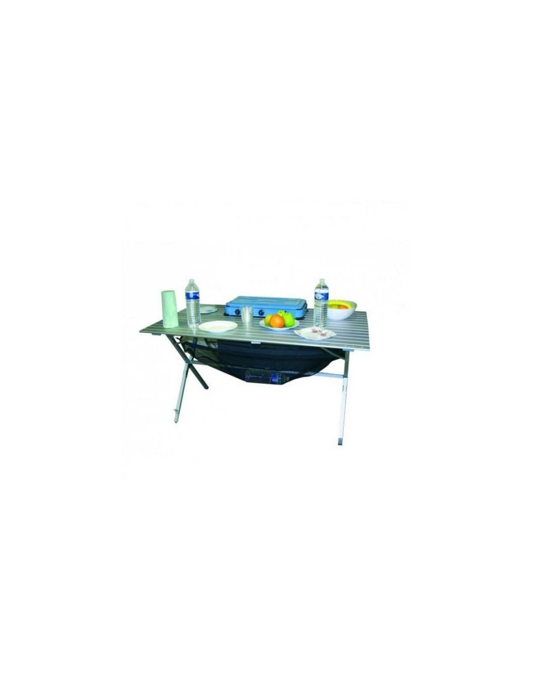 Mesa aluminio plegable 6 personas tienda de camping online for Mesa plegable de aluminio para camping