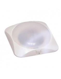 Plafón cuadrado luz LED 12v Blanco 19 cm