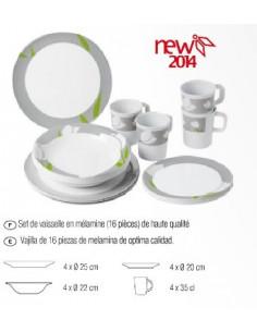 Utensílios de mesa de melamina de 16 peças por Brunner