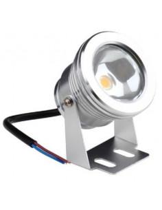 Refletor redondo LED 10w 12v submersível em alumínio