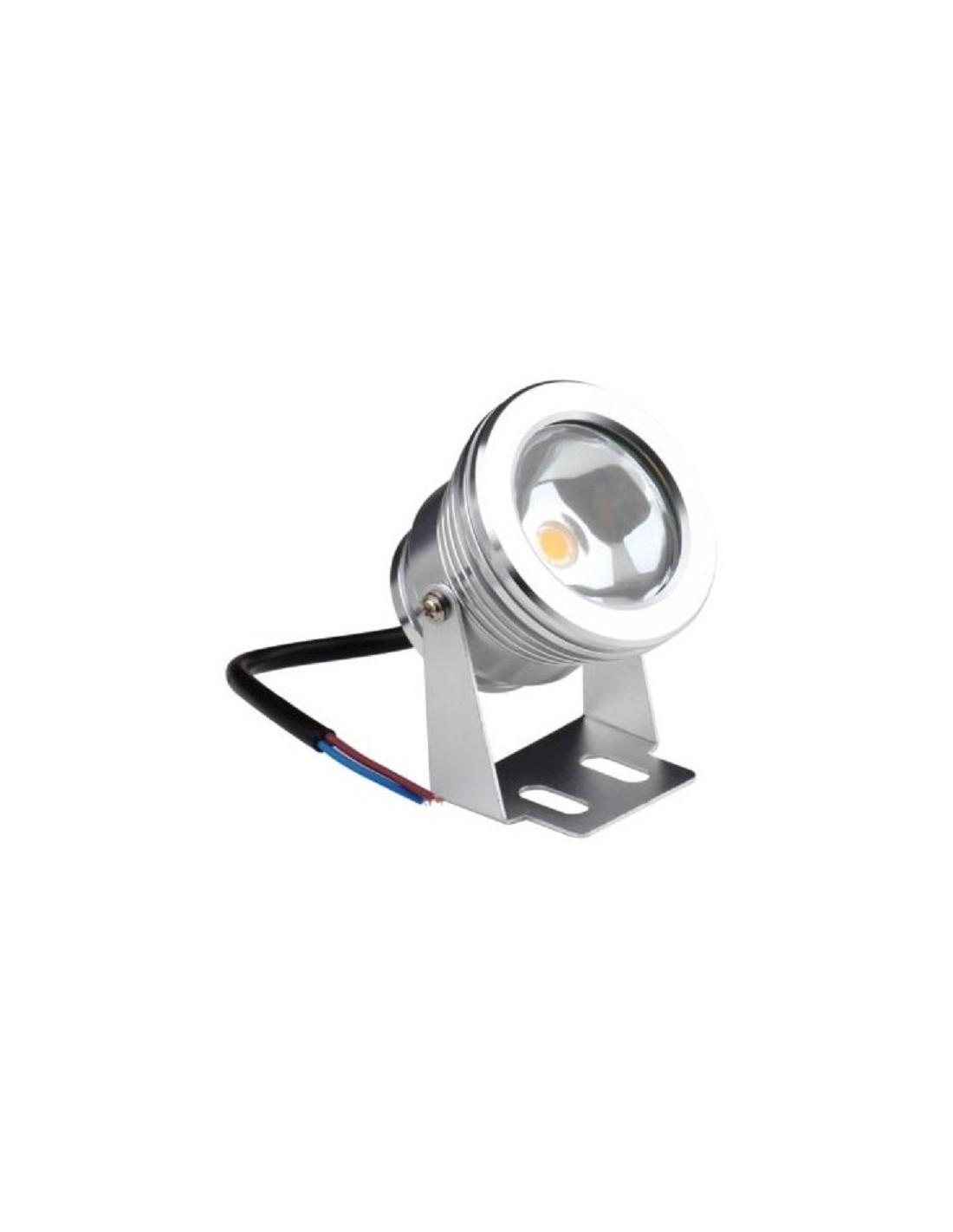 Foco redondo led 10w 12v aluminio sumergible tienda de for Foco led exterior 10w