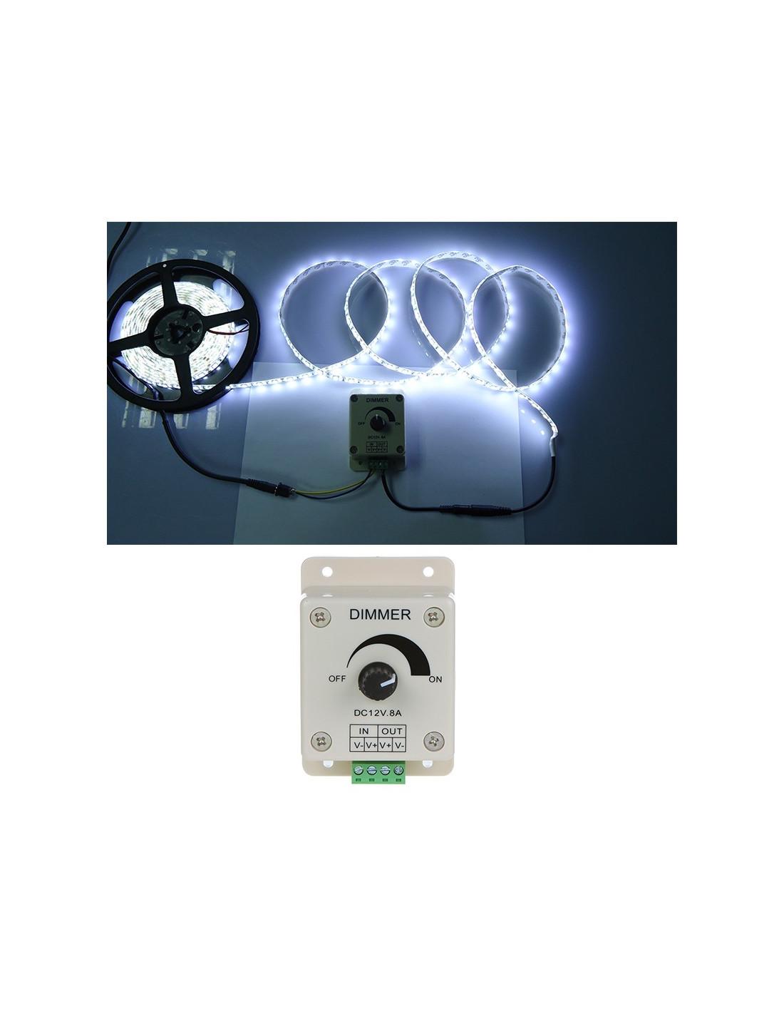 Regulador de luminosidad dimmer para tira de led tienda for Regulador para led