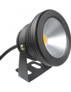Foco redondo LED 10w 12v aluminio negro sumergible