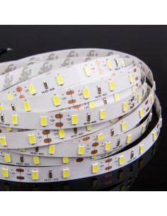 Bande Led Blanche 5m Sans Silicone (luminosité maximale SMD5630)