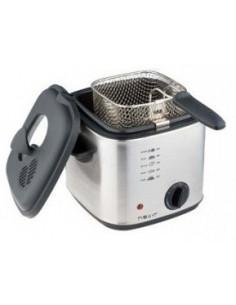 Frigideira 1 litro de aço inoxidável.