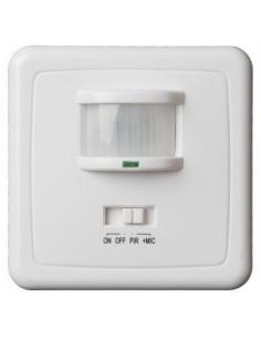 Detector de movimiento y de sonido para empotrar