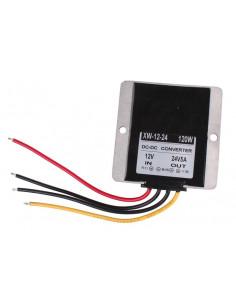 Convertidor inverter de 12v. a 24v con disipador aluminio (5A de salida)