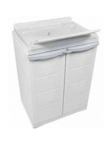 Mueble armario de resina con fregadero incorporado