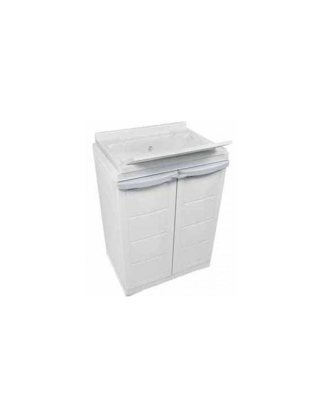 Mueble armario de resina con fregadero incorporado tienda de camping online - Mueble para lavadora exterior ...