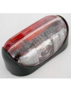 Vitre latérale en verre rouge et blanc SPL2000