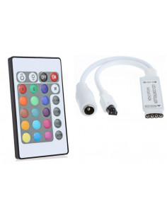 Controlador dimmer para tiras de led rgb con mando a distancia