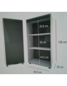 Modulo Armario con puertas de persiana garaje 126x62,5cm