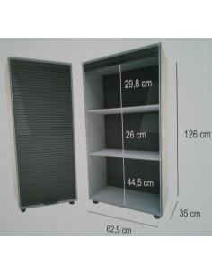 Módulo de guarda-roupa com portas de garagem 126x62,5cm