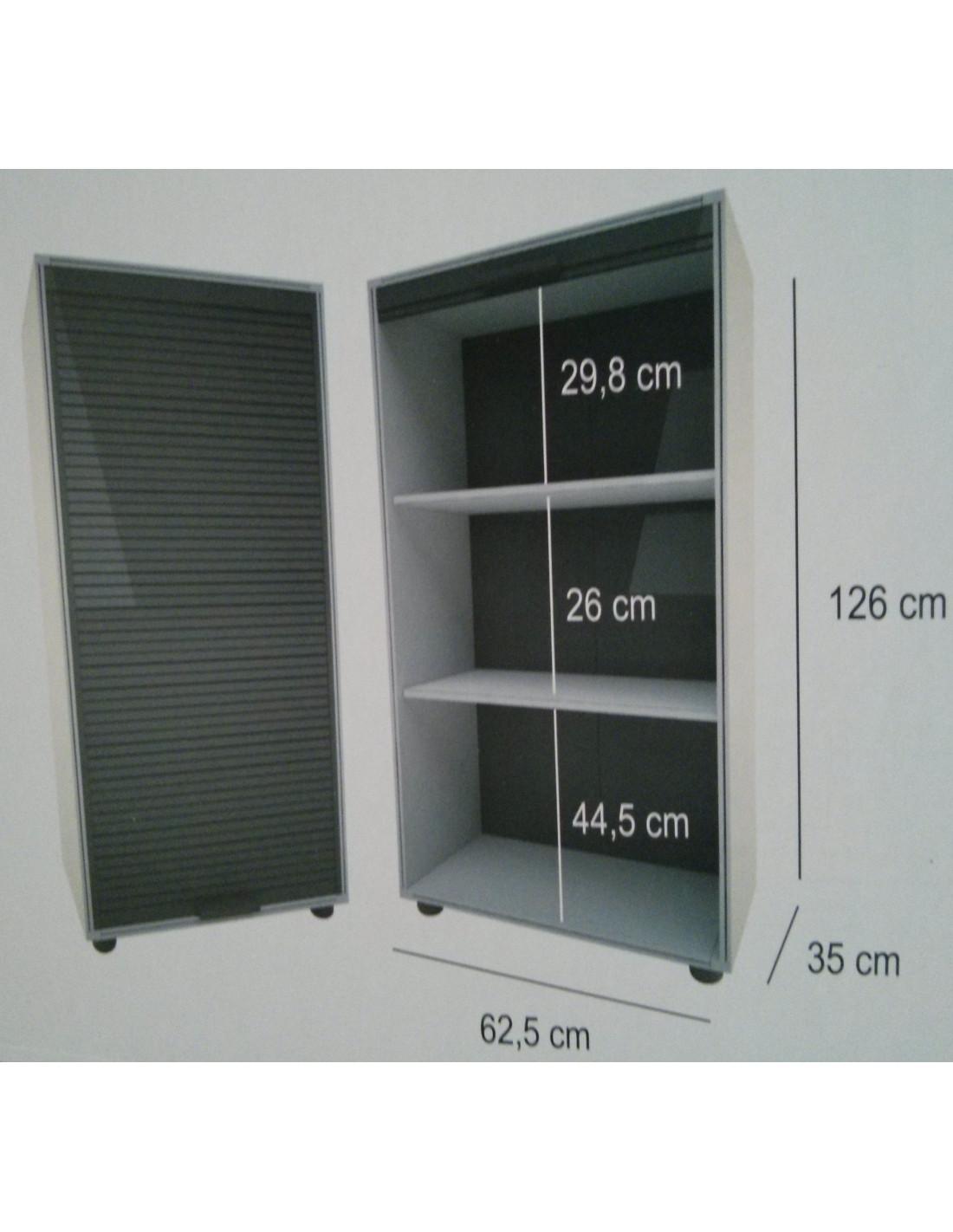 Modulo armario con puertas de persiana garaje 126x62 5cm tienda de camping online - Muebles para garaje ...