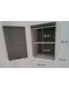 Modulo Armario con puertas de persiana garaje 90x62,5cm