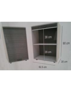 Módulo de guarda-roupa com portas de garagem 90x62,5cm