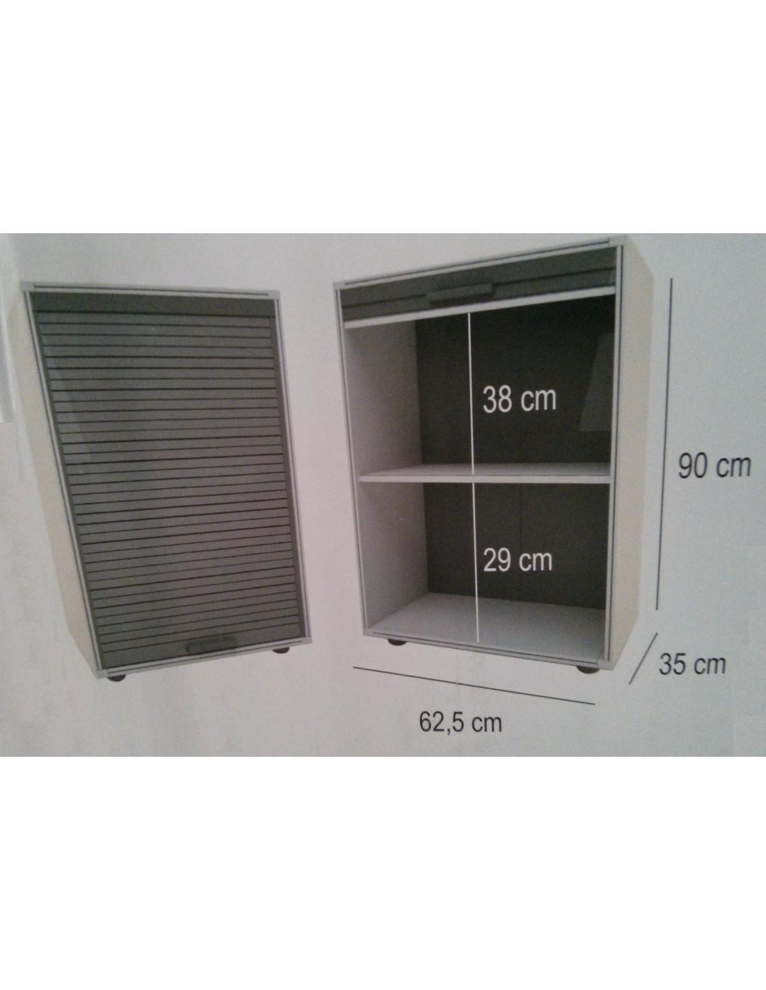 Modulo armario con puertas de persiana garaje 90x62 5cm - Armario para garaje ...