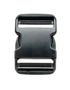 Schnallenverschluss 38 mm schwarzer Kunststoff