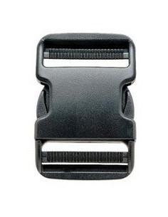 Schnallenverschluss 25 mm schwarzer Kunststoff