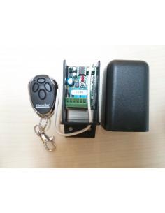Receptor 2 canales cod. abierto con mando. Relé independiente.