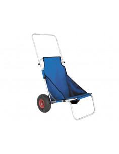 Trolley com cadeira de praia dobrável com rodas