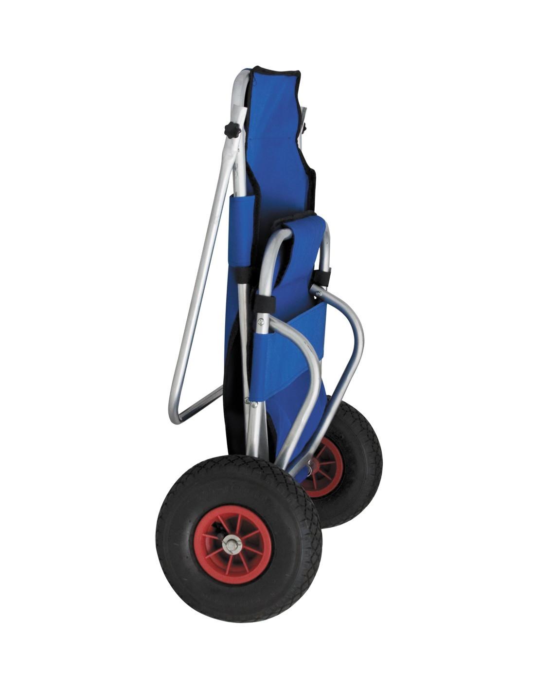 Carro con silla de playa plegable con ruedas tienda de for Mesa de camping plegable con sillas